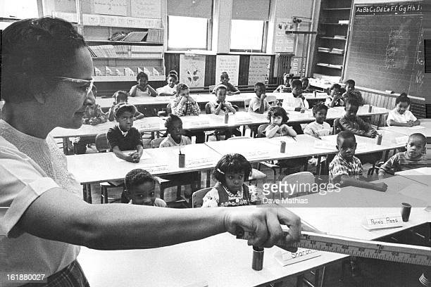 OCT 31 1963 Mrs Elizabeth Ward has first grade class at Whittier School E 24th Ave and Marion St There is only one nonNegro pupil This nearly...