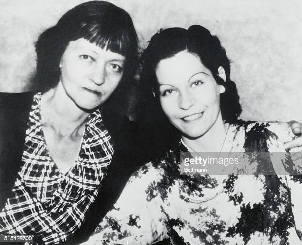 Mrs. Emma Parker, mother of the late notorious Bonnie Parker,is shown here with her daughter Billy Mace, as the elder woman came to court here to...
