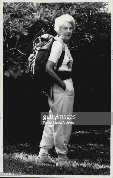 Mrs Fay Burgess who will be treking in New Zealand at her French's Forest homeBy common walking their way to health and pleasure for two years nowOn...