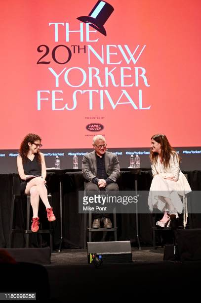 'Mrs Fletcher's' Kathryn Hahn and Tom Perrotta talk with Katy Waldman at the 2019 New Yorker Festival on October 12 2019 in New York City