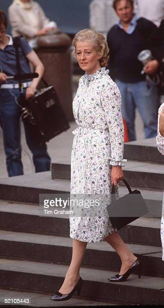 Mrs Frances Shandkydd Leaving Her Daughter's Wedding Rehearsal At St Paul's Cathedral In London