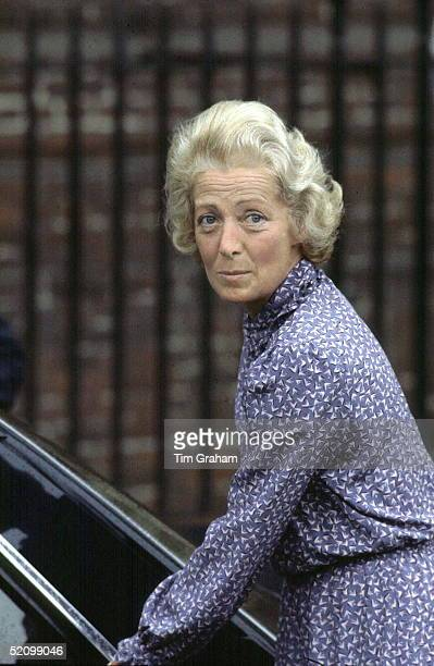 Mrs Frances Shandkydd Leaving The Lindo Wing Of St Mary's Hospital In Paddington After Visiting Her Daughter The Princess Of Wales And Her New Baby...