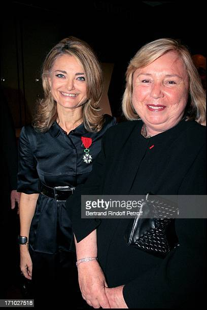 Mrs Francois Pinault and Florence of Botton Florence of Botton is made knight in the Order of Legion of Honor in Christie's halls where she is the...