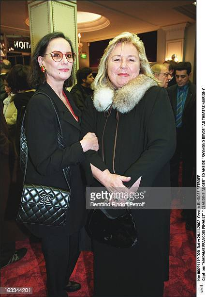 Mrs Francois Pinault ' Claudine Auger' 'Raymond Devos' 80th birthday at the Marigny theater