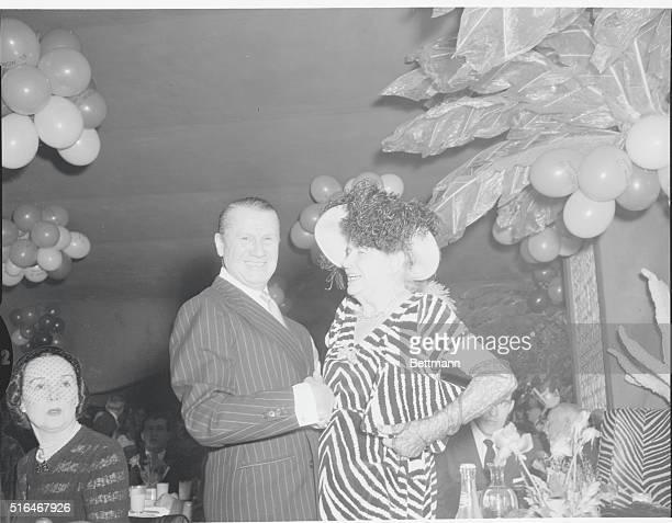 Mrs Frank Henderson Bette with John Perona owner of the El Morocco Nightclub 154 East 54th Street New York City