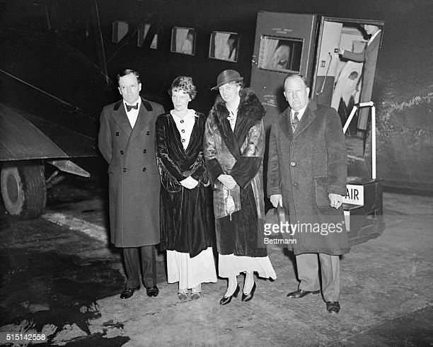 Mrs. Franklin D. Roosevelt and Mrs. Amelia Earhart Putnam, prominent aviatrix, went up for a night sky ride in Washington, D.C., on April 20th, and...