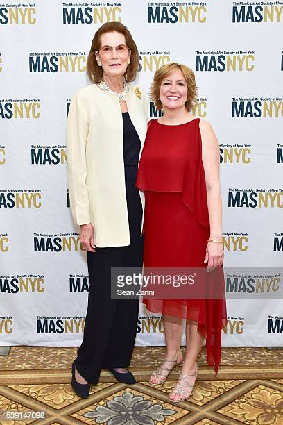 Mrs Franklin D Roosevelt Jr and Gina Pollara attend The Municipal Art Society of New York 2016 Jacqueline Kennedy Onassis Medal at The Plaza on June...