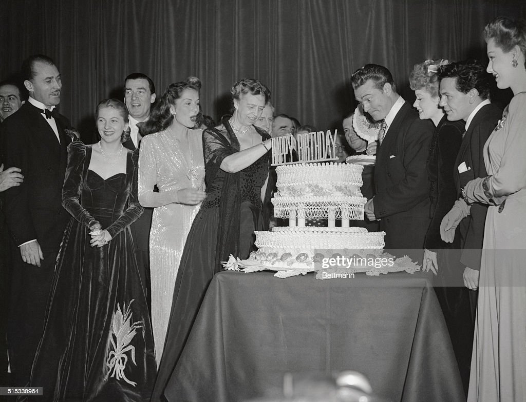 Hostess of Birthday Party Eleanor Roosevelt : News Photo