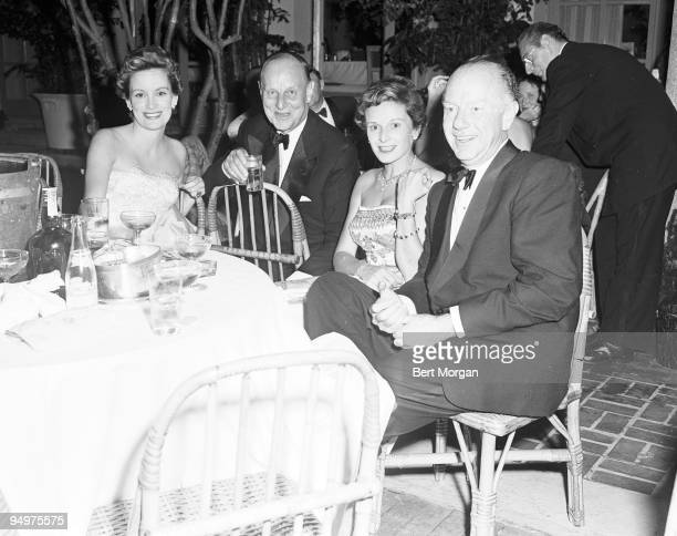 Mrs Freeman Gosden Charles Cushing Mrs Henry Ford II and Freeman Gosden at the Everglades Club in Palm Beach Florida c1955 Gosden is the Amos of...