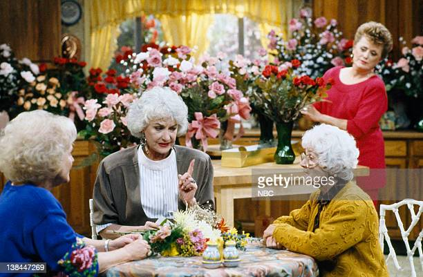 GIRLS Mrs George Devereaux Episode 9 Aired 11/17/90 Pictured Betty White as Rose Nylund Bea Arthur as Dorothy Petrillo Zbornak Estelle Getty as...