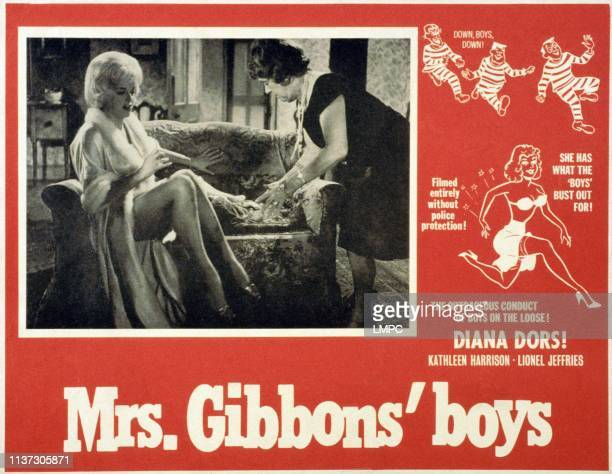 Mrs Gibbons' Boys lobbycardMrs Gibbons' Boys British lobbycard from left Diana Dors Kathleen Harrison 1962