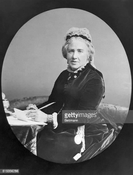 Mrs. Gladstone, wife of British Prime Minister William Ewart Gladstone.