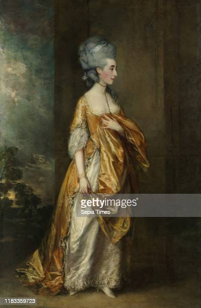 Mrs Grace Dalrymple Elliott Oil on canvas 92 1/4 x 60 1/2in Paintings Thomas Gainsborough In 1774 Gainsborough moved from Bath to London and by 1777...