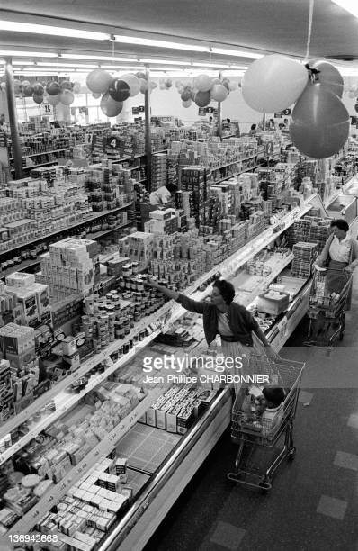 Mrs Gray shopping at the supermarket 1958