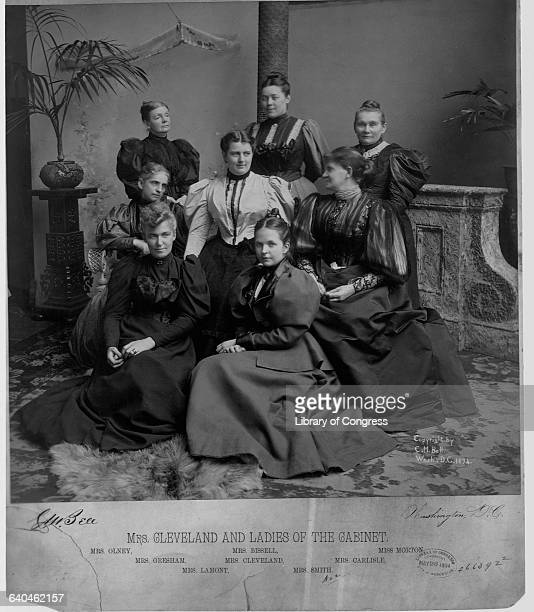 Mrs Grover Cleveland and ladies of the cabinet