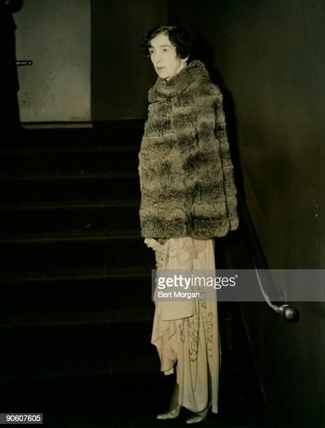 Mrs Harry Payne Whitney attending opening night at the Metropolitan Opera House New York City Mrs Whitney is the former Gertrude Vanderbilt mother of...