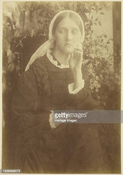 Mrs. Herbert Duckworth, 1872. A work made of albumen print. Artist Julia Margaret Cameron.