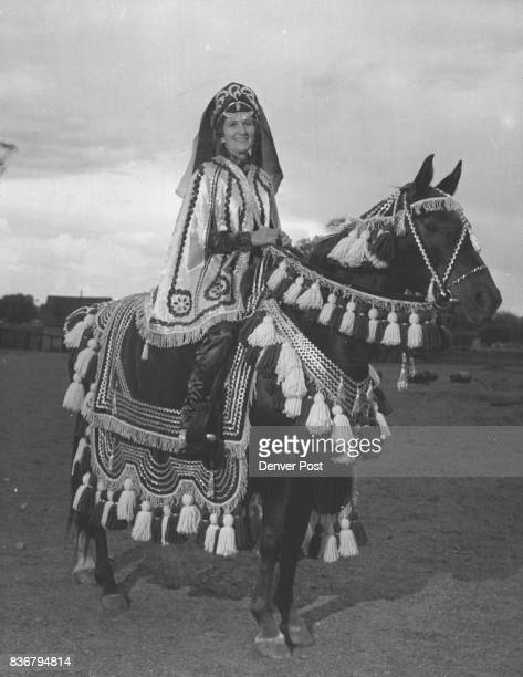 Mrs Irene Knill of Walking K Ranch Golden aboard Radana a mare she will ride in the Bedoin costume class at the HalfArab Horse Show Sunday Credit...