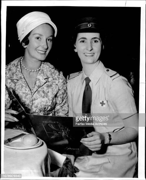 Mrs John Clifford amp Helen Meehan Social November 7 1958
