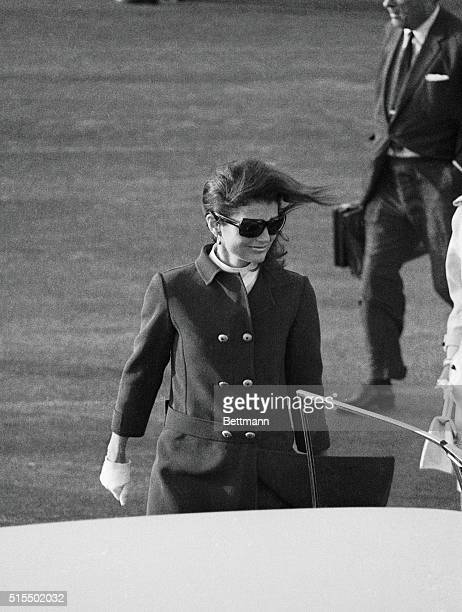 Mrs. John F. Kennedy, emotionally overcome by the second nightmare of violence in her life, flew into Los Angeles 6/5 tot he bedside of her...