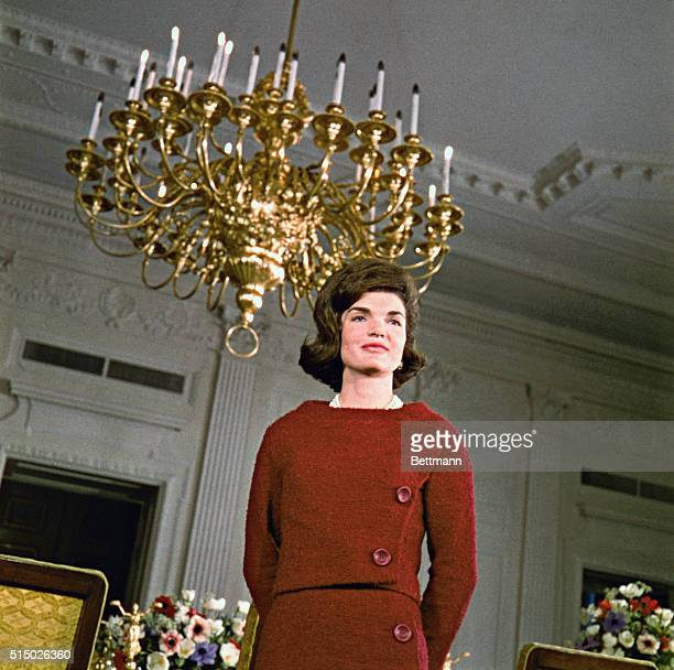 Mrs John F Kennedy on white House tour on CBSTV