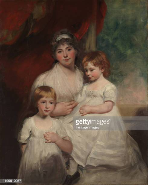 Mrs John Garden and Her Children John and Ann Margaret 1796 or 1797 Artist John Hoppner