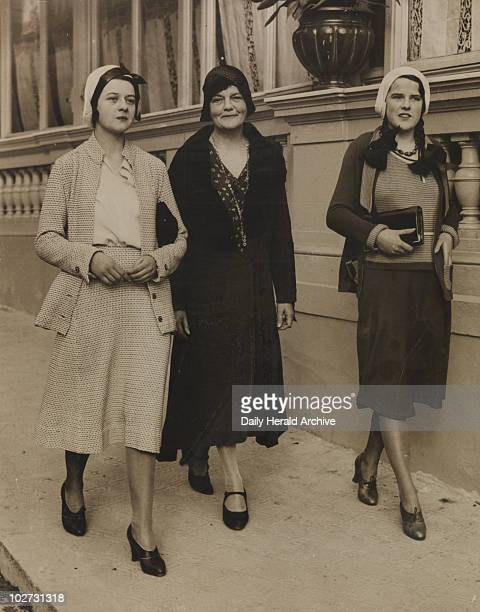 'Mrs Kate Meyrick takes to the Riviera' 1931 This is a photograph of nightclub owner Kate Meyrick in Monte Carlo with two of her daughters Kate...