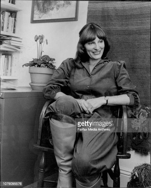 Mrs Kristin Williamson wife of the playwright David Williamson who wrote Gallipoli at her Birchgrove home July 5 1982