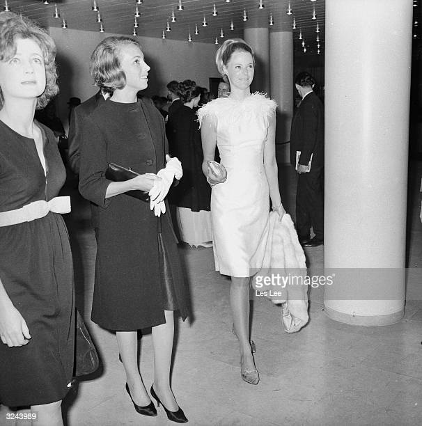 Mrs Lascelles and fashion model Gaynor Millington attend a performance by the Bolshoi Ballet at the Royal Festival Hall in London