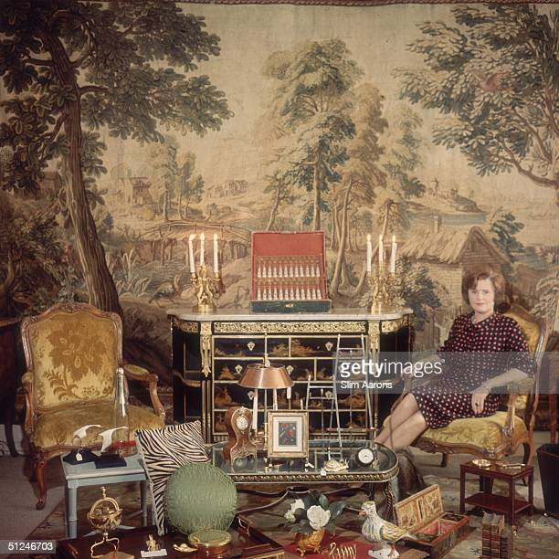 1964 Mrs Leland Hayward better known as Pamela Churchill Harriman who later became US Ambassador to France at her antiques shop 'The Jansen Shop' New...