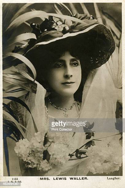 Mrs Lewis Waller, English actress, c1906. Postcard posted in 1906. Florence West starred opposite her husband, Lewis Waller, in his most successful...