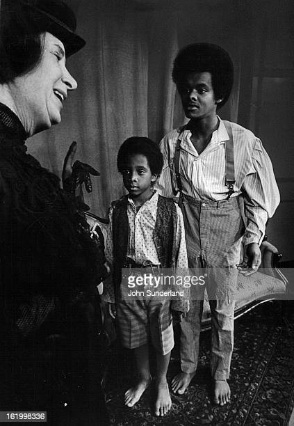 NOV 4 1974 NOV 8 1974 NOV 9 1974 'Mrs Lincoln' Drama At Bonfils Marion Res left William Taylor center and Danny Blacknall appear in The Last of Mrs...