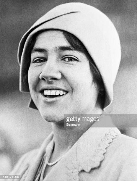 Mrs Lindbergh smiles at last An unusual and exclusive close up of MrsAnne Morrow Lindbergh in happy mood as she appeared when visiting the city...