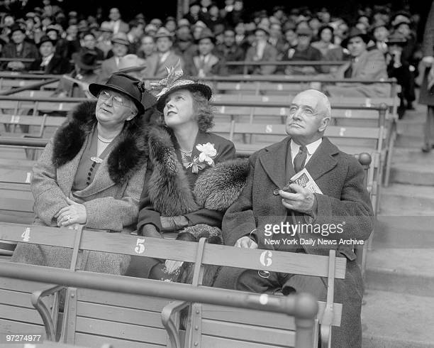Mrs Lou Gehrig with Lou's parents at Yankee game