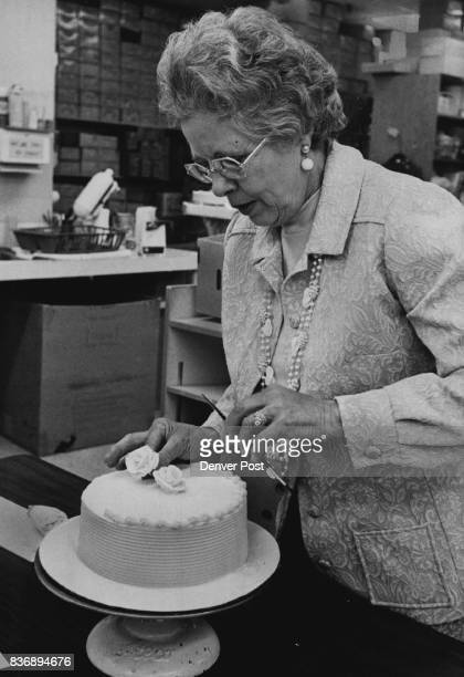 Mrs Lucille Mayo Adds A Finishing Touch It all started in a cakedecorating class at the YWCA Credit Denver Post