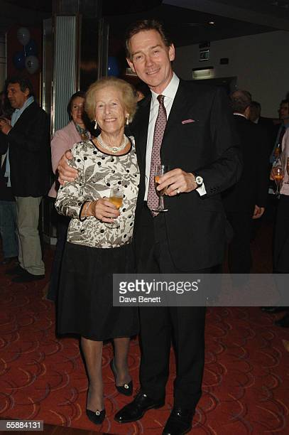 Mrs Mackintosh and Anthony Andrews attend the 20th Anniversary Celebration of Les Miserables after party at the Prince of Wales Theatre on October 8...