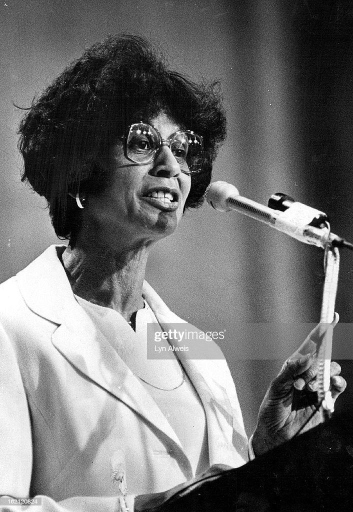 JUN 29 1981, JUN 30 1981,MAY 28 1983, MAY 29 1983, JUN 12 1983; Mrs. Margaret Bush Wilson, NAACP Boa : News Photo
