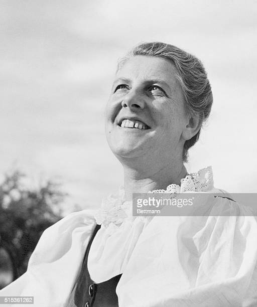 Mrs Maria Augusta Trapp of Stowe Vermont widow of the late Austrian naval hero Baron Georg von Trapp and the mother and principal contralto of then...