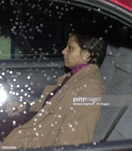 Mrs Maria Vaz leaving St Thomas's Hospital in London this evening Europe Minister Keith Vaz was tonight undergoing hospital checks after collapsing...
