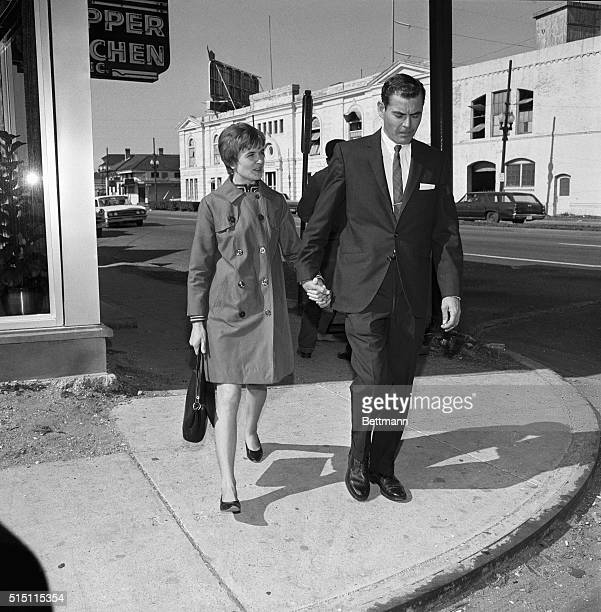 Mrs Marina Oswald Porter and her husband Kenneth Porter are seen here in New Orleans where she answered a grand jury subpoena in connection with a...