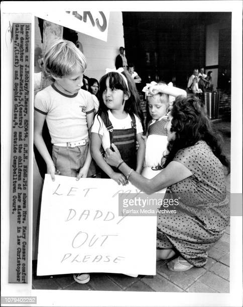 Mrs Mary Cassar comfort her daughter AnnaMarie and the children of her sister in law Christoper Galea and Sophie Galea outside Campbellwtown Court...