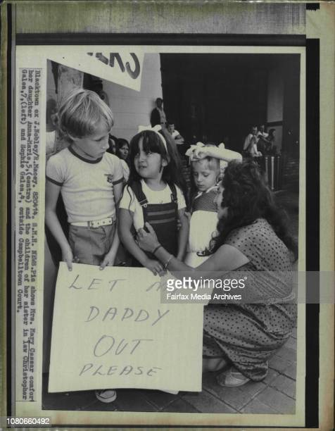 Mrs Mary Cassar comfort her daughter AnnaMarie and the children of her sister in law Christopher Galea and Sophie Galea outside Campbelltown Court...