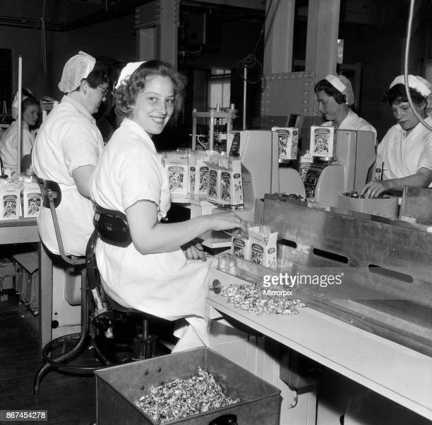 Mrs Mary Smith aged 23 working at John Mackintosh sweet factory Halifax in West Yorkshire 11th June 1959