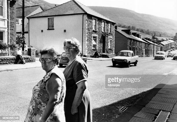 Mrs Mary Sykes and Mrs Gwen Baker of Treorchy pictured at the spot in High St Treorchy near the Red Cow public house where residents want a crossing...