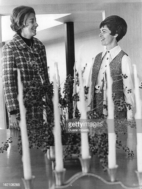 JAN 12 1971 MAR 17 1971 MAR 21 1971 Mrs Merrill Yale left and Mrs Edward Emerich are working on the April 30 patron party which will mark 1971...