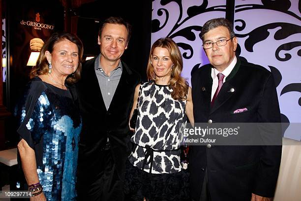 Mrs Michel Pastor Ernesto Bertarelli Kirsty Bertarelli and Michel Pastor attend the De Grisogono Jewellery new collection party on February 17 2011...