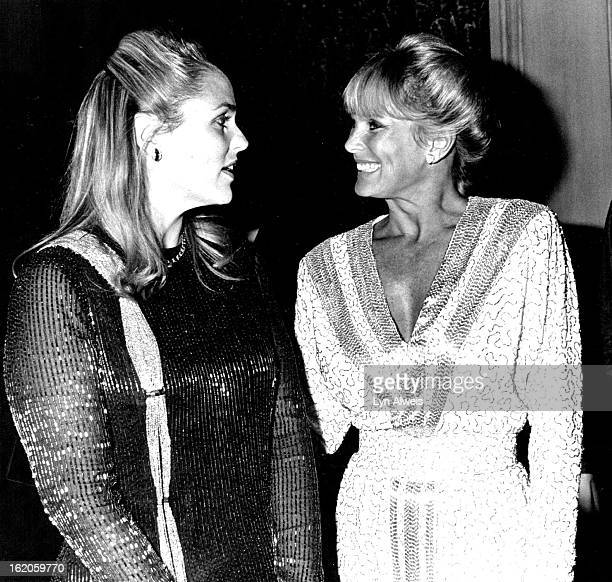 SEP 8 1983 SEP 14 1983 OCT 10 1983 Mrs Nebil Zarif chats with Linda Evans about Zarif's twoline role in Dynasty
