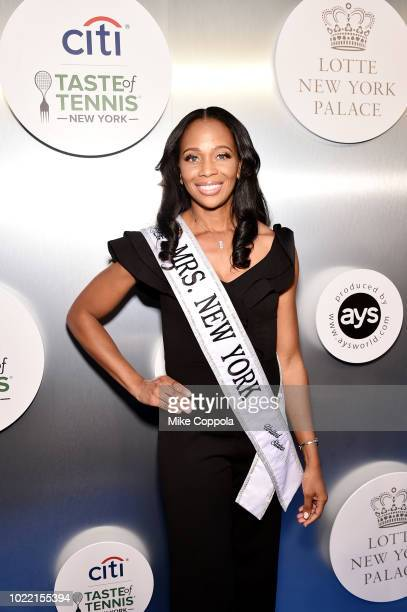 Mrs New York America 2018 Yasmeen Gumbs attends the Citi Taste Of Tennis gala on August 23 2018 in New York City