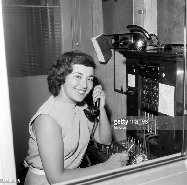 Mrs Norma Whitehouse aged 25 telephonist at Kumficar Halifax in West Yorkshire June 1959