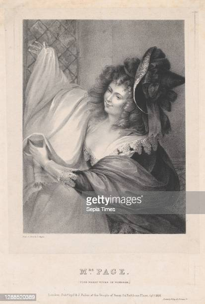 Mrs. Page , April 5 Lithograph on chine collé, Image: 8 3/8 × 6 7/16 in. , Prints, Louis Haghe , After Matthew William Peters .